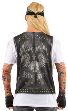 Faux Real Men's Tattoo Sleeves Back View