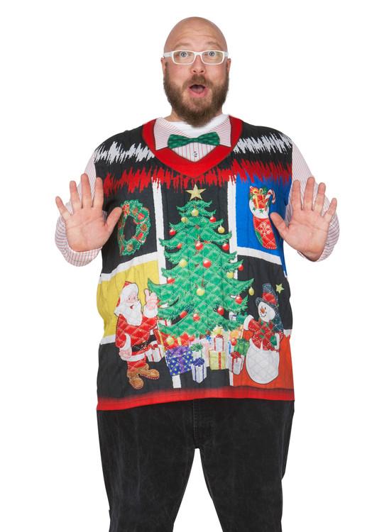 Big Size Ugly Noel Xmas Vest