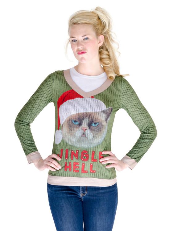 Jingle Hell Cat Ugly Xmas Sweater