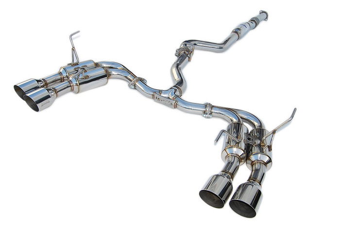 Invidia R400 Single Layer Quad Stainless Steel Tip Cat-Back Exhaust 15+ Subaru WRX/STI 4Dr