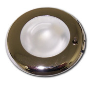 "Recessed 3"" G4 LED Puck Light Fixture - Brass or Chrome Finish (FX-G4-10)"