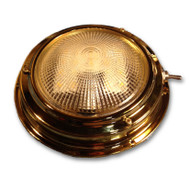 "5.5"" LED Cabin Dome Light - Stainless Steel or Titanium Brass"