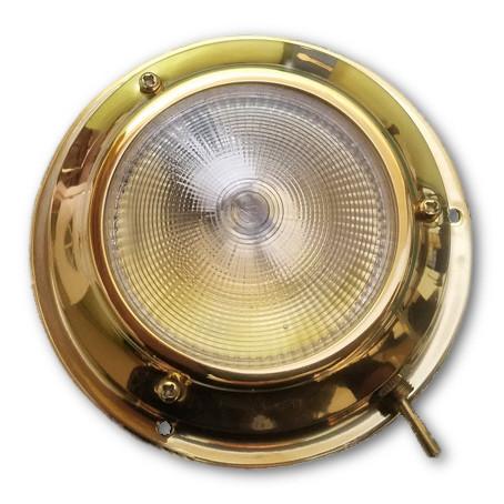 Titanium Nitride surface mount LED dome light (non-tarnishing Brass finish)