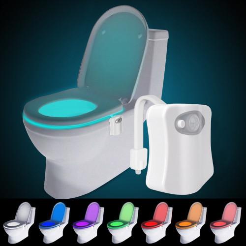 Boat toilet night light