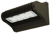 LED ADJUSTABLE WALL PACK 25 WATTS 4000K & 5000K -The LEDWPA Series is a rugged, durable LED wall pack that provides full adjustability of the LED module, so light can be focused up, down, or anything in between. It is perfect for outdoor perimeter and area lighting. With a die cast aluminum housing and a polycarbonate lens, the LEDWPA Series will stand up to many years of punishing environmental conditions. High-efficacy, long-life LEDs provide both energy and maintenance cost savings compared to traditional, HID wall packs.  ▪ Available in 4000k (neutral white) and 5000k (cool white) color temperatures.* ▪ Long-life LEDs provide 61,000 hours of operation with at least 70% of initial lumen output (L70).** ▪ LEDWPA25 provides 3,325 lumens and 133 lumens per watt (LPW) at 4000k, or 3,280 lumens and 131 LPW at 5000k.* ▪ LEDWPA40 provides 5,238 lumens and 131 LPW at 4000k, or 5,131 lumens and 128 LPW at 5000k.* ▪ Uniform illumination with no visible LED pixilation. ▪ Universal 120-277 AC voltage (50-60Hz) is standard. ▪ Power factor > 0.90. ▪ Total harmonic distortion < 20%. ▪ Color rendering index > 70. ▪ Die cast aluminum housing with durable, dark bronze, powder coat paint. ▪ Polycarbonate lens with seamless, silicone gasket to prevent leaks. ▪ Easy installation in new construction or retrofit.