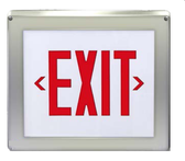 The VRBO exit sign has been designed for harsh and hazardous environments. The durable fiberglass housing allows the VRBO to be installed in locations that require hazardous and vandal resistant protection. The VRBO is configured with high-output LEDs. Weatherproof PAR36 emergency lightIng heads are installed on the sign as specified. The Robusto series is approved for use in Class 1, Division 2, Groups A, B, C and D: T2B area classification. In addition, the Robusto is also suitable for Class I, Zone 2, IIA, IIB & IIC: T1 & T2 area classification.
