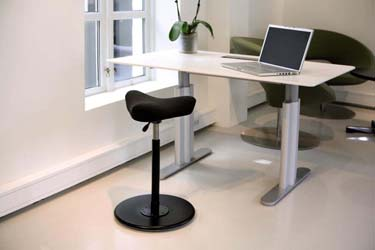 Sit-stand ergonomic office chairs for height-adjustable work surface
