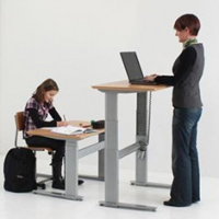 Power Adjustable Height Workstations - Standing Desk, Sit-Stand Desk, Stand-up Desk, Sit to Stand Desk