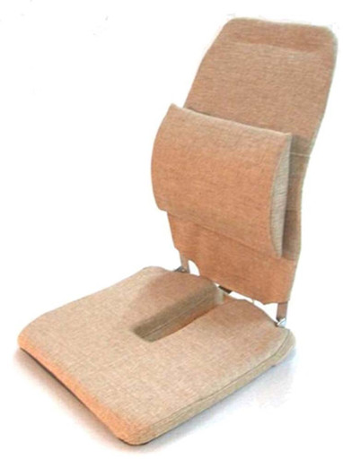 McCarty's SacroEase Cutout Model Car Seat & Back Cushion