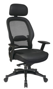 Executive/Managers Office Chair w/Headrest – Leather Seat