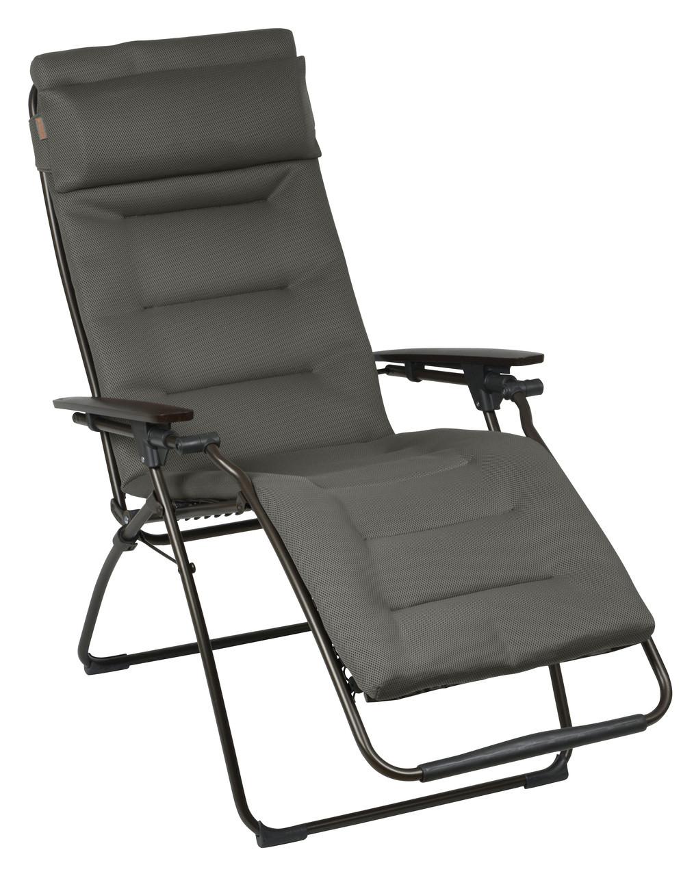 Anti gravity chair camp - Lafuma Futura Air Comfort Taupe Padded Zero Gravity Recliner