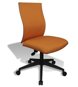 Kaja Armless Fabric Task Chair by Jesper Office-Orange