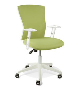 Sanne White Frame & Armrests Office Chair by Jesper Office-Green