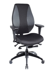 Airflow airCentric Chair with Airflow Back and Seat By ergoCentric ( Synchro Glide)