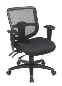 ProGrid Mid Back Black Mesh Swivel/Tilt Task Chair
