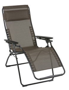Lafuma Mobilier Futura Clip Mesh Reclining Chair, Wood
