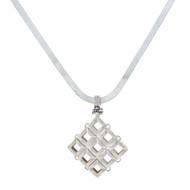 Michael Dawkins Sterling Silver 925 Necklace Pendant W Herringbone Chain