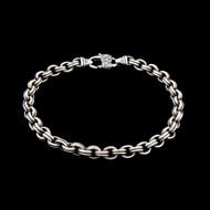 Designer Signed Sterling Silver 925 Bracelet Double Curb Link Well Made