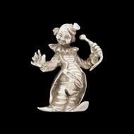 Vintage 925 Solid Sterling Silver Figural Clown Figurine HEAVY 100G