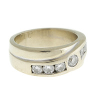 14K White Gold & 1.15ct Total Weight Diamond Band Ring, Appraised $3,390.00