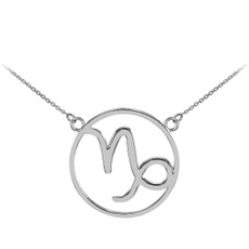 925 Sterling Silver Capricorn Zodiac Sign Necklace
