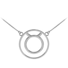 925 Sterling Silver Taurus Zodiac Sign Necklace