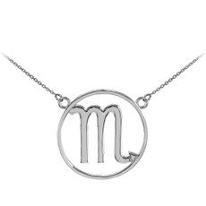 925 Sterling Silver Scorpio Zodiac Sign Necklace