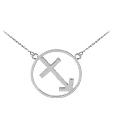 925 Sterling Silver Sagittarius Zodiac Sign Necklace
