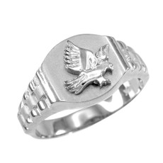 Silver American Eagle Ring