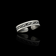 Sterling Silver Spiral Twist Toe Ring