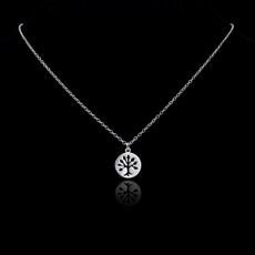 Sterling Silver Tree of Life Cutout Charm Necklace