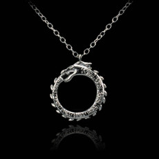 Silver Ouroboros Necklace