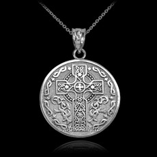 Silver Irish Blessing Necklace