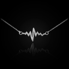 Silver Heartbeat Necklace