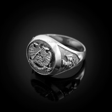 Sterling Silver 32 Degree Scottish Rite Mens Masonic Ring