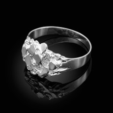 Sterling Silver Men's Stoic Nugget Ring