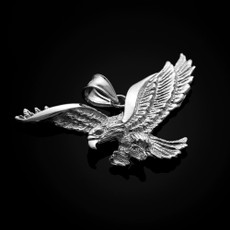 Sterling Silver Flying Eagle Pendant