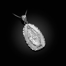 Sterling Silver Lady Guadalupe DC Pendant Necklace