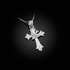 Sterling Silver Holy Spirit Dove Cross DC Charm Necklace