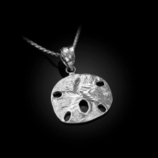 Sterling Silver Sand Dollar DC Charm Necklace