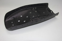 Metal seat pan and powder coated with black paint