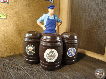 BLACK FOREST HOBBY SUPPLY CO | EUROPEAN BEER BARRELS A (LARGE) AR-1002A | ALPINE RAILWORKS | G SCALE