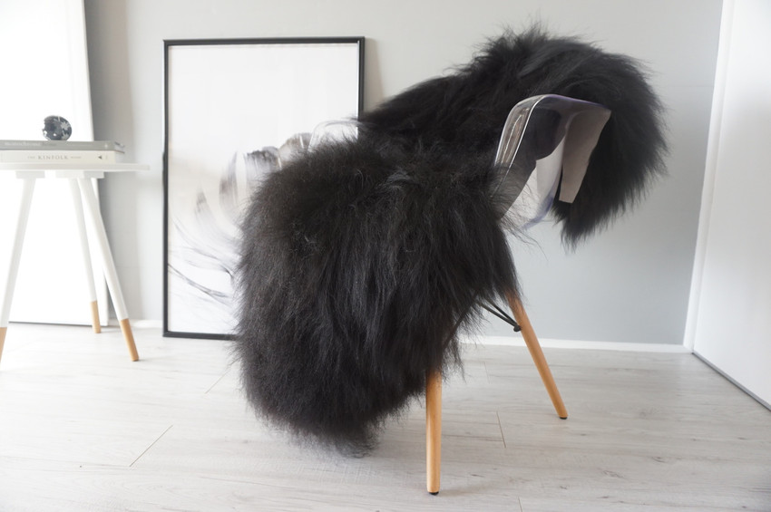 Black / Brown Single Icelandic sheepskin rug