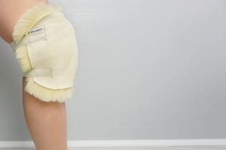 Genuine Natural Medical Sheepskin - Super Soft Wool - Antibacterial - KNEE PROTECTOR