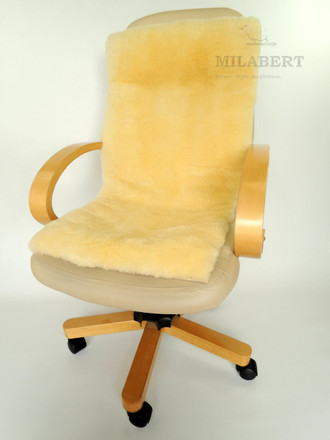 Genuine medical sheepskin seat & back cushion / Mat / pad - wheelchair - chair