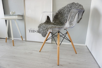 Genuine - Rare Breed Swedish Gotland Sheepskin Rug - Soft Curly Wool - Natural Grey | Ash | Silver Mix - SG 138
