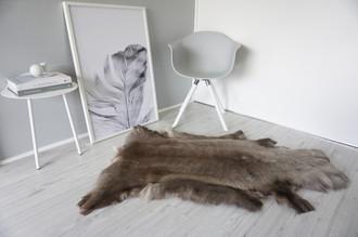 Genuine Super Soft - Extra Large Scandinavian Reindeer Skin Rug  RE 279