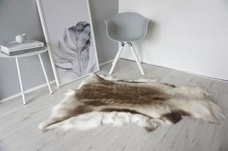 Genuine Super Soft - Extra Large Scandinavian Reindeer Skin Rug  RE 285