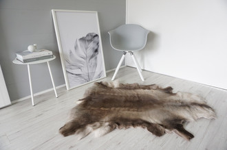 Genuine Super Soft - Extra Large Scandinavian Reindeer Skin Rug  RE 309