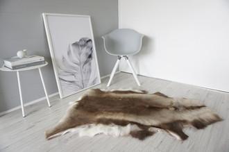 Genuine Super Soft - Extra Large Scandinavian Reindeer Skin Rug  RE 311